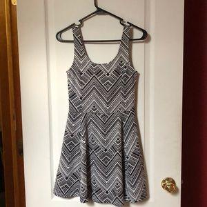 NWOT H&M Black and White skater dress